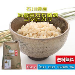 加賀百万石 お米 こしひかり 厳選コシヒカリ 平成30年産 石川県産   食用 玄米 15kg|hondanojo