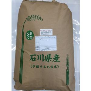 加賀百万石 こしひかり エコ栽培米 平成30年産 石川県産 新米  赤とんぼ  白米 5分づき 30kg|hondanojo