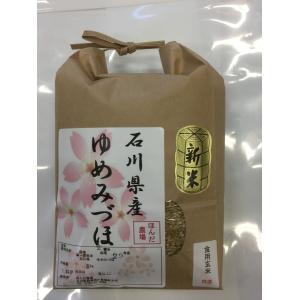 新米 平成29年産 加賀厳選米 ゆめみづほ 食用 玄米 2kg|hondanojo