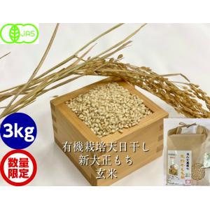 有機栽培天日干し新大正モチ(糯)玄米3kg|hondanojo