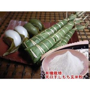 (送料無料)米粉 もち粉 無農薬  有機栽培の天日干し もち玄米粉300gメール便|hondanojo