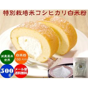 コシヒカリ白米粉「色白美人」500gメール便(送料無料)|hondanojo