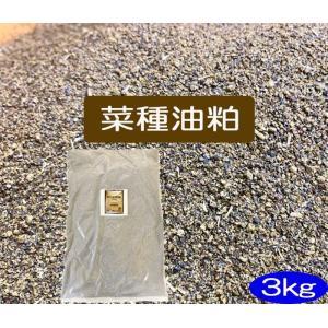 菜種油粕 3kg(JAS有機適合資材)(送料別)|hondanojo