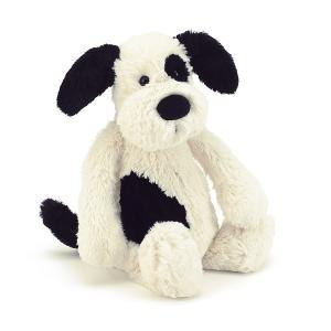 Bashful Black and Cream Puppy Medium 犬のぬいぐるみ Jellycat ジェリーキャット|hondastore