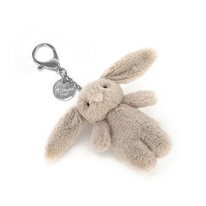 Bashful  Bunny  beige Bag Charm うさぎ ぬいぐるみ Jellycat ジェリーキャット キーホルダー|hondastore