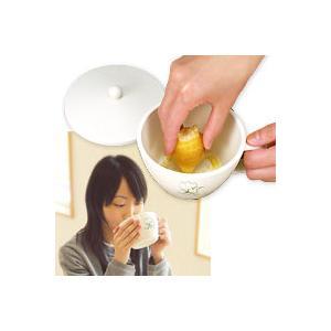 【在庫限り】 カップスルー すりおろし器付きカップ アーネスト 食材をすりおろせるスープカップ|honest
