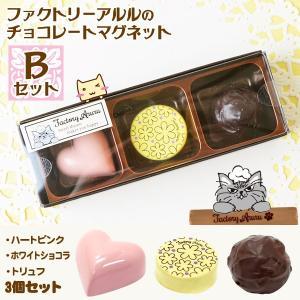 ファクトリーアルルのチョコレートマグネット Bセット (ハートピンク・ホワイトショコラ・トリュフ) アルタ|honest