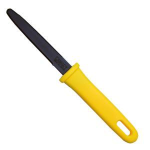 ダンちゃんがダンボールをザクザク切れる秘密は、特殊なギザ刃。 適度な強度と厚さのステンレス製の刃には...
