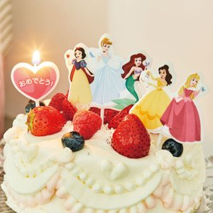 ディズニー キャラクター パーティー キャンドル「プリンセス」パーティー バースデーキャンドル 白雪姫 シンデレラ アリエル ベル オーロラ姫|honest