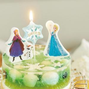 ディズニー キャラクター パーティーキャンドル 「アナと雪の女王」 パーティー バースデーキャンドル アナ エルサ オラフ アナ雪|honest