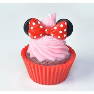 ディズニー カップケーキキャンドル 「ミニー」 香り付きキャンドル パーティー バースデー ミニーマウス DISNEY スイーツ カップケーキ プレゼント|honest