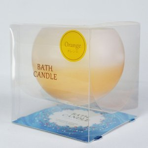 オレンジの香り お風呂でアロマ ぷかぷかバスキャンドル|honest