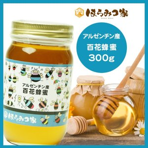 純粋百花はちみつ 300g アルゼンチン産  蜂蜜 HONEY ハチミツ ハニー はちみつ 非加熱【まとめ買い対象商品】 〔Honey House〕