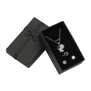 ジュエリーボックス(ブラック)  ピアス、指輪、ネックレスなどをこちらのケースに入れてプレゼント用に...