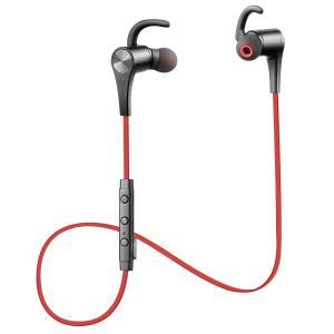 SoundPEATS サウンドピーツ Q12 Bluetooth イヤホン 高音質 マイク付き マグネット搭載 スポーツ ブルートゥース イヤホン レッド|honey-pot