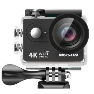 MUSON ムソン アクションカメラ 4K 30M防水 12...