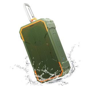 Willnorn SoundPlus アウトドア Bluetooth 4.2 スピーカー オリーブグリーン MD-WNSP3|honey-pot