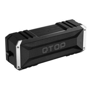Qtop Bluetoothスピーカー QTBS008AB-ブラック×シルバー 【IPX4防水&防塵認証/最大25時間持続】|honey-pot
