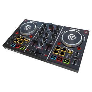 Numark ミラーボール付き 2デッキDJコントローラー Virtual DJ LE付属 Party Mix|honey-pot