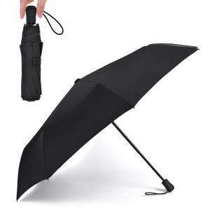 TAIKUU 折り畳み傘 超軽量 240g Teflon認証 超吸水カバー付き 晴雨兼用 傘テフロン ブラック U-240 BL-WB|honey-pot
