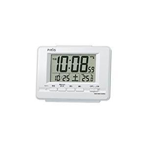 SEIKO CLOCK セイコークロック デジタル電波目覚まし時計(白パール塗装) NR535H|honey-pot