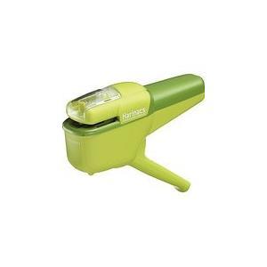 コクヨ ホチキス 針なしステープラー ハリナックス ハンディ 10枚とじ 緑 SLN-MSH110G