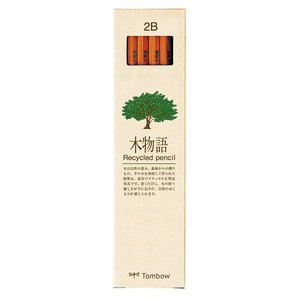 トンボ鉛筆 鉛筆 木物語 2B 1ダース LA-KEA2B|honey-pot