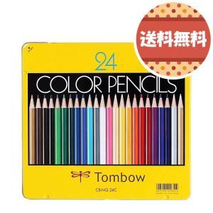 トンボ鉛筆 色鉛筆 NQ 24色 CB-NQ24C 缶入...