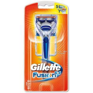 ジレット フュージョン5+1 髭剃り 本体 替刃2個付|honey-pot