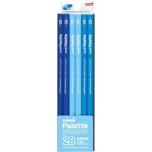 【限定値下げ】三菱鉛筆 かきかた鉛筆 ユニパレット 2B K55602B パステルブルー 1ダース|honey-pot