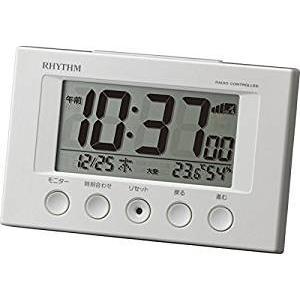 【限定値下げ】RHYTHM リズム 時計 電波 目覚まし 時計 デジタル フィットウェーブスマート 温度 湿度 カレンダー 表示 白 8RZ166SR03|honey-pot
