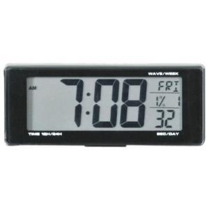SEIWA セイワ 車用 時計 ライト電波クロック 電池タイプ ブルーLED W690|honey-pot