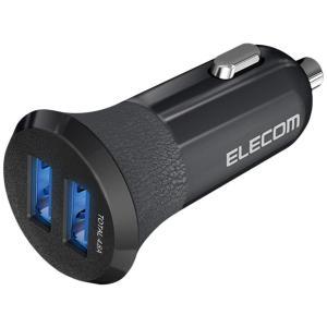 エレコム カーチャージャー 車載充電器 ブラック EC-DC03BK|honey-pot