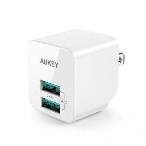 AUKEY オーキー USB充電器 ACアダプター 2ポート  AiPower機能搭載 PA-U32 ホワイト honey-pot