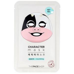 THE FACE SHOP/ザフェイスショップ/キャラクターマスク【ウシ】/栄養/弾力/初乳成分/マスクシート/韓国コスメ