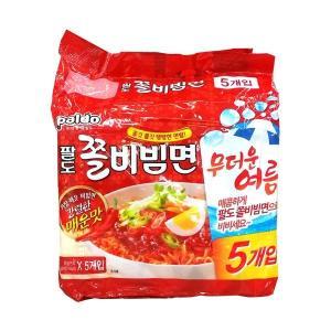 八道/パルド/チョルビビン麺/5袋入り/韓国食品/韓国ラーメン/インスタントラーメン/らーめん/チョル麺