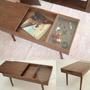 センターテーブル emo ガラス ローテーブル 収納付き 木製 送料無料|honeycomb-room