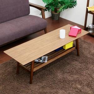 リビングテーブル emo 棚付 センターテーブル ローテーブル 木製 送料無料|honeycomb-room