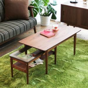センターテーブル ネスト emo ローテーブル ガラステーブル 木製 送料無料|honeycomb-room