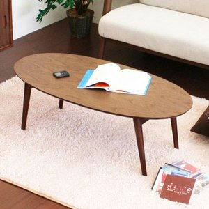 センターテーブル 折りたたみ emo ローテーブル 折りたたみ 楕円|honeycomb-room