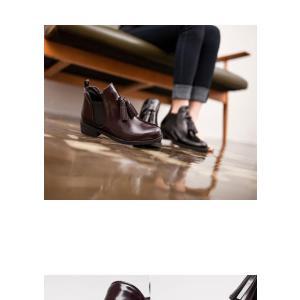 ショートブーツ アウトレット 新作在庫 ブラック 23.5cm タッセルフリンジ サイドゴア ショートブーツ 4cmヒール|honeyflash
