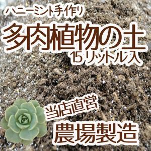 【当店農場生産】多肉植物&セダムの土 15リットル入1袋☆多肉植物が元気に育つ!|honeymint