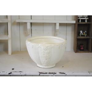 お買い得!【GF1039】ローゼリーボウルSW☆グラスファイバー製の植木鉢♪|honeymint