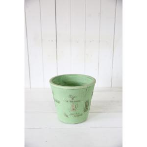 パリヴェッセルサークル(Sサイズ)グリーン☆オシャレなグラスファイバー製の植木鉢♪軽くて持ち運びも便利!|honeymint
