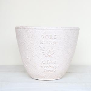 植木鉢 グラスファイバー製 おしゃれ ドレオリーブサークル(Sサイズ)ホワイト|honeymint