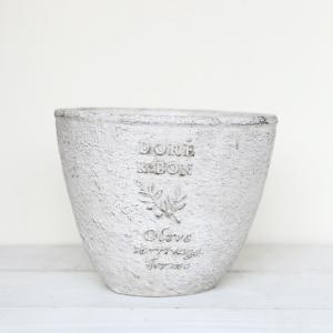 植木鉢 グラスファイバー製 おしゃれ ドレオリーブサークル(Sサイズ)グレー|honeymint