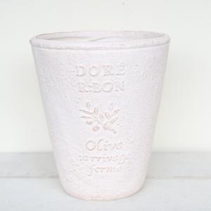 植木鉢 グラスファイバー製 おしゃれ ドレオリーブサークルロング(Sサイズ)ホワイト|honeymint