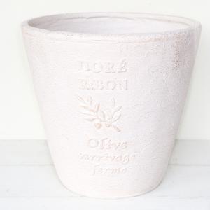 植木鉢 グラスファイバー製 おしゃれ ドレオリーブサークルロング(Mサイズ)ホワイト|honeymint