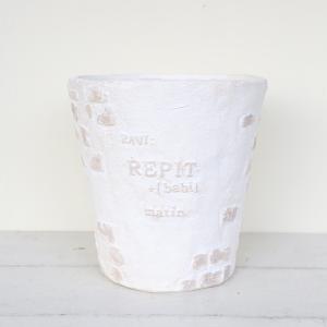 植木鉢 グラスファイバー製 おしゃれ レップブリックサークル(Sサイズ)|honeymint