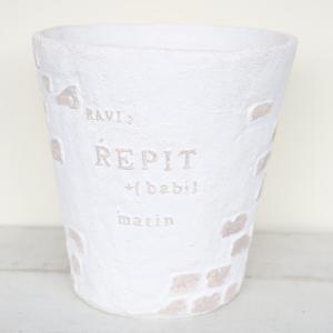 植木鉢 グラスファイバー製 おしゃれ レップブリックサークル(Mサイズ)|honeymint
